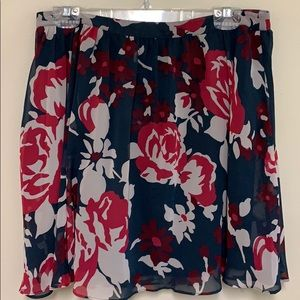 Fossil blue floral skirt. Size 12